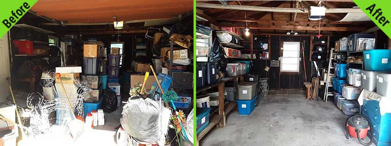 Professional Organizing Before and After Garage